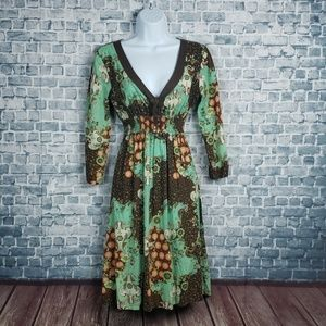 6/$30 SALE Eyeshadow vintage medium dress#1883